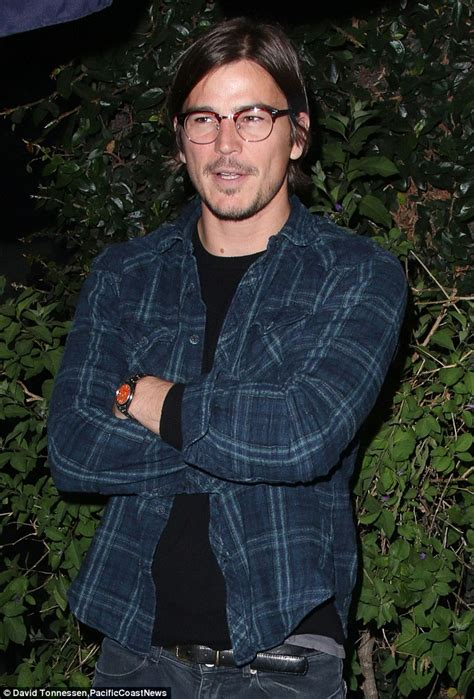 when a guys tuck hair ears means josh hartnett is in great spirits after meal at vegan hot