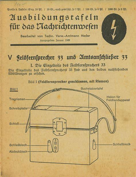 ww2 german equipment wiring diagrams wiring diagram schemes