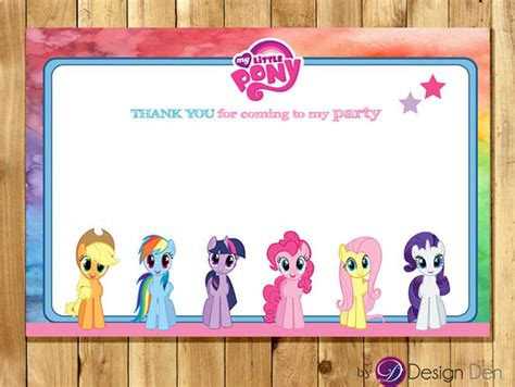 my pony birthday card template blank my pony birthday thank you card chalk board