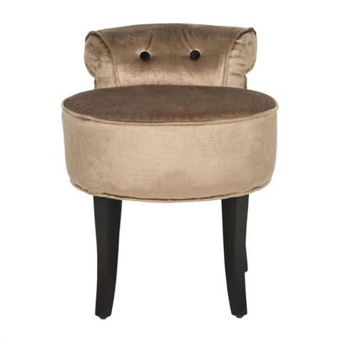 vanity benches and stools safavieh georgia birch wood vanity stool in mink brown