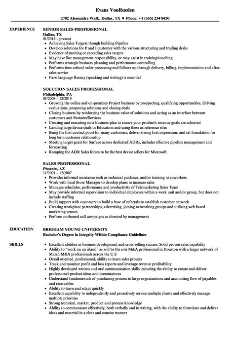 professionally written resume sles sales professional resume sles velvet