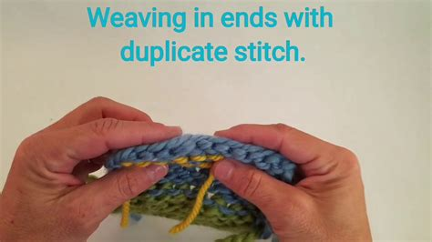 weaving in ends in knitting weaving ends in knitting using duplicate stitch my