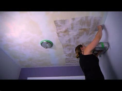 diy painted popcorn ceiling removal