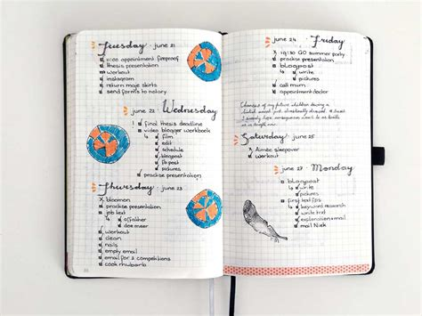 layout management journal bullet journal daily inspiration pages nederland boekje