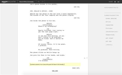 A Place Script Pdf How To Write A Screenplay Using Storywriter The Write Practice