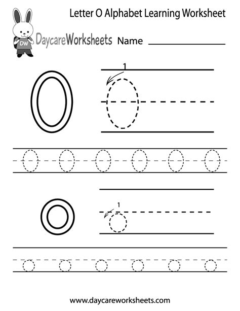 worksheet alphabet o free letter o alphabet learning worksheet for preschool