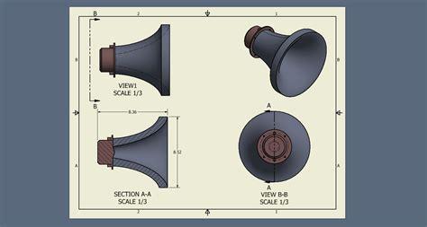 revolved section exle large horn wave guide techtalk speaker building audio