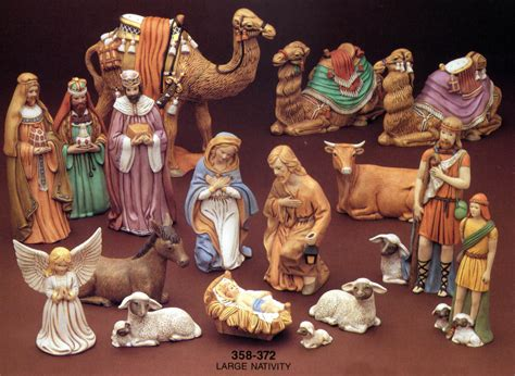 home accessories nativity sets 50 pcs kastlunger nativity