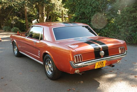 Mustang Auto 1966 by Sold Quot Amber Quot 1966 V8 Auto Ford Mustang Coupe Emberglo