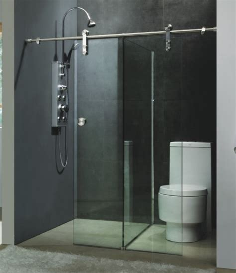 sliding shower door is unique bathroom vanities ideas