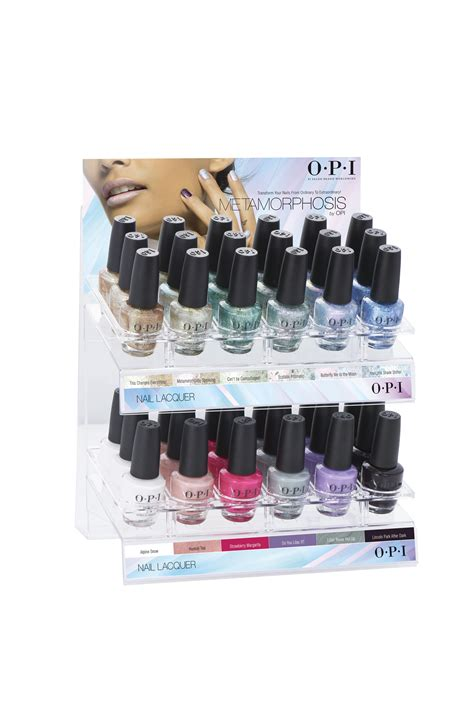 metamorphosis collection nail lacquer pc display opi