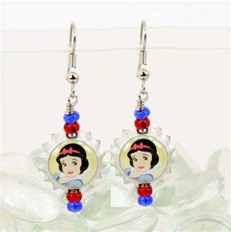 disney princess earrings ariel cinderella snow