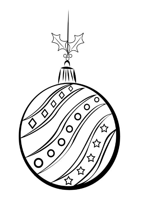 christmas balls coloring pages    print