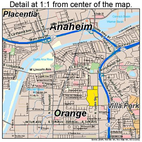 where is anaheim california on the map map of anaheim ca images