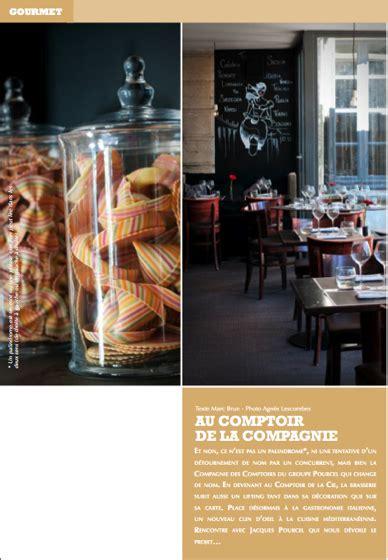 Au Comptoir De La Compagnie by La Presse En Parle Au Comptoir De La Compagnie Chefs
