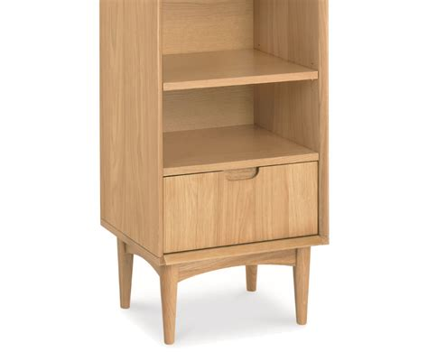 Oak Narrow Bookcase Orbit Oak Narrow Bookcase