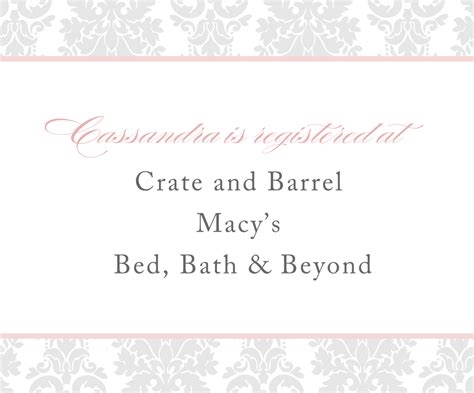 printable bridal shower registry inserts baby registry insert card template b wall decal