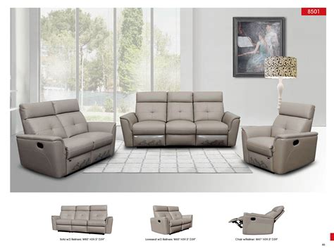 contemporary living room set 8501 contemporary contemporary reclining leather sofa nova