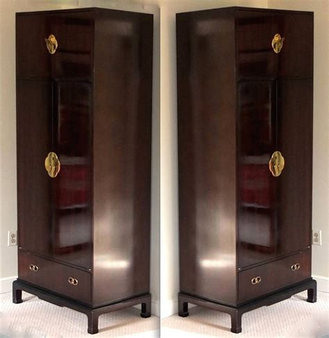 Narrow Armoire Furniture Pair Of Narrow Armoires By Henredon At 1stdibs
