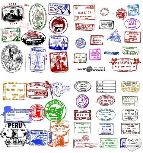 passport stamp vector onward travel company pinterest
