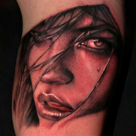 woman s face tattoo get inked
