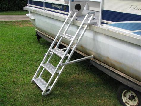 side mount pontoon boat ladders for people and dogs aqua - Pontoon Boat Ladder Extension