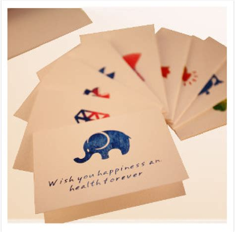 Wish Gift Cards - beautifully colorful mini festival party thank you generic birthday blessing cardboard