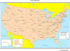 Fotos us map showing states and capitals of the united states
