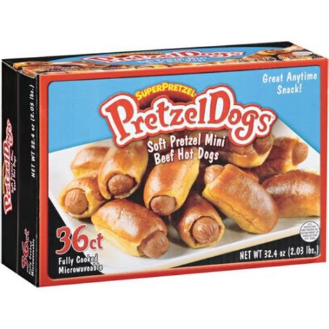 can dogs pretzels superpretzel pretzel dogs soft pretzel mini beef dogs 36 count 32 4 oz walmart