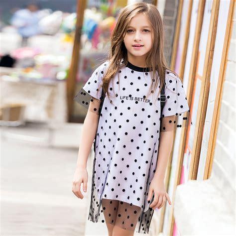 2016 summer dress cotton frock design polka dot