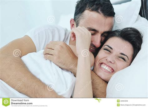 in their bedroom young couple have good time in their bedroom royalty free stock images image 22004259
