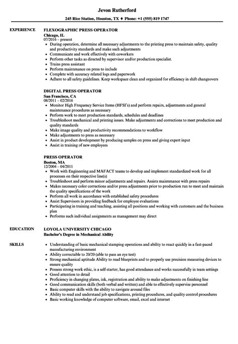 Folder Operator Cover Letter by Folder Gluer Operator Sle Resume Delivery Sle Resume