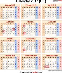 January 2017 calendar with holidays uk template