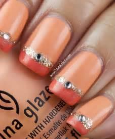 orange nails nail art designs picture