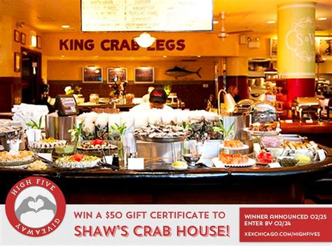 shaws crab house win a 50 gift certificate to shaw s crab house xex hair gallery chicago loop hair