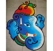 Lord Ganesha Is One Of The Most Popular Themes In Rangoli Designs And