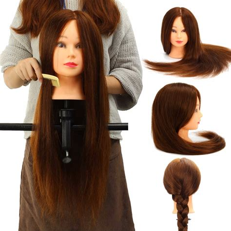 Real Hair Mannequin Heads by 100 Real Human Hair Mannequin Salon Hairdressing