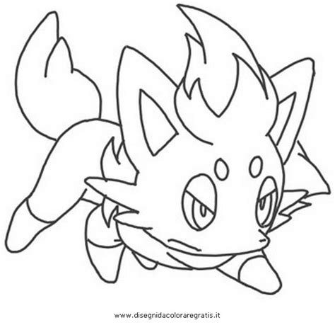 pokemon coloring pages of zorua free coloring pages of zoroark pokemon