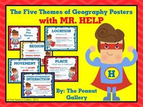 theme definition for elementary students these posters for the five themes of geography reinforce