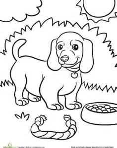 Weiner Dog Puppy  Coloring Page Educationcom sketch template