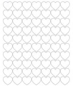 printable heart shapes tiny small amp medium outlines