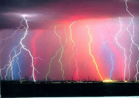 lightning is striking agian bright colors photo