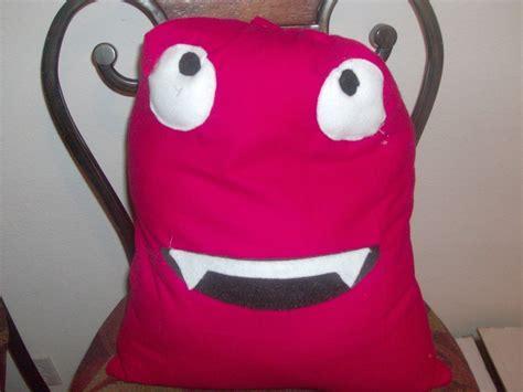 monster pillow  shaped cushion sewing  cut   creation  kirsten