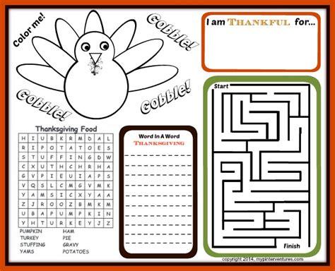 printable children s fun activities kids thanksgiving activity printables thanksgiving table fun