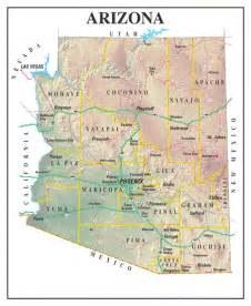 arizona maps and state information