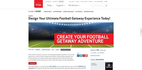 Verizon Sweepstakes - verizon wireless football getaway sweepstakes