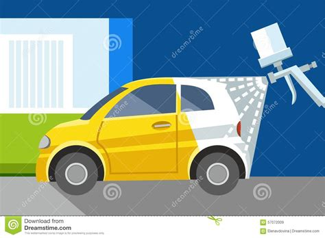 chagne colored flats car painting spray gun yellow car white car color