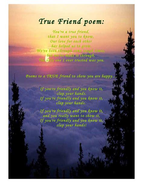 true friend poems true friend poem
