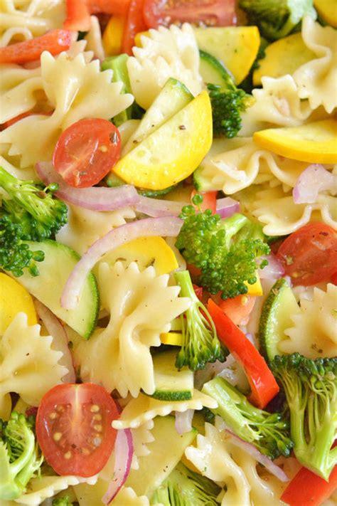 Garden Vegetable Salad Garden Vegetable Pasta Salad Recipe