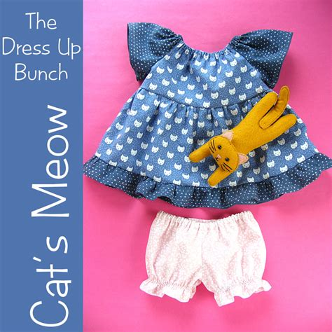 cat dress pattern cat s meow dress up bunch doll dress panties and cat